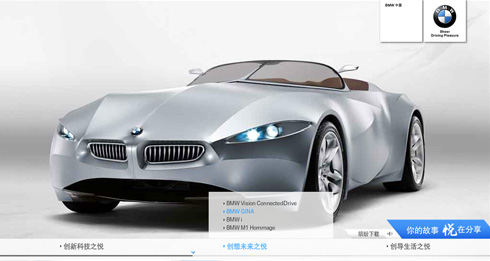 BMW concept car Gina